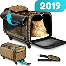 Cozzzy Airline Approved Pet Carrier with Wheels, Soft Sided Pet Carrier, Dog Carriers for Small Dogs, Cat Carriers for Medium Cats Other Small Pets, Pet Stroller 19.6 in 11.8 in 11.8 in