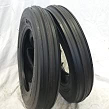 Road Warrior 5.00-15, 500-15, (2 Tires + Tubes) 5.00X15, 5.00-15 3 Rib Tractor Tires 6 PR w/Tubes