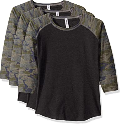 Crewneck 3//4 Sleeve 2 Pack Marky G Apparel Womens Baseball T-Shirt