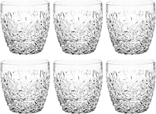 Tumbler Glass - Double Old Fashioned - Set of 6 Gl - Fully Designed DOF tumblers - For Whiskey - Bourbon - Water - Beverag...
