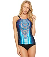 Jantzen - Watercolor Placement High Neck One-Piece