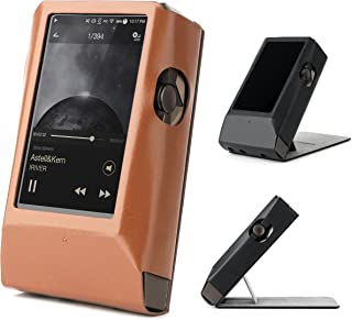 Astell&Kern AK380 AMP Hand Crafted MITER Leather Case Cover [Patented Stand Case] astell&Kern Leather case ak380 amp case (Light Brown)