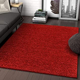 Best red plush area rug Reviews