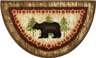 "Cozy Cabin CC5275 Birch Bear Non Skid Rug 19""x31"" Wedge Brown"