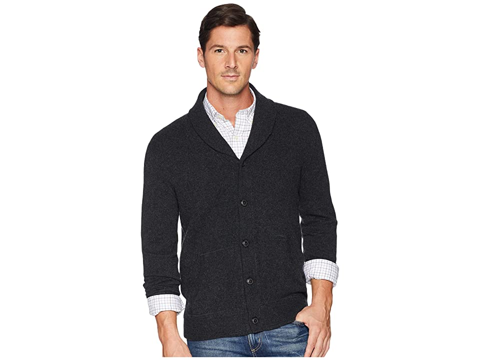 Polo Ralph Lauren Wool Shawl Cardigan (Deep Black Heather) Men