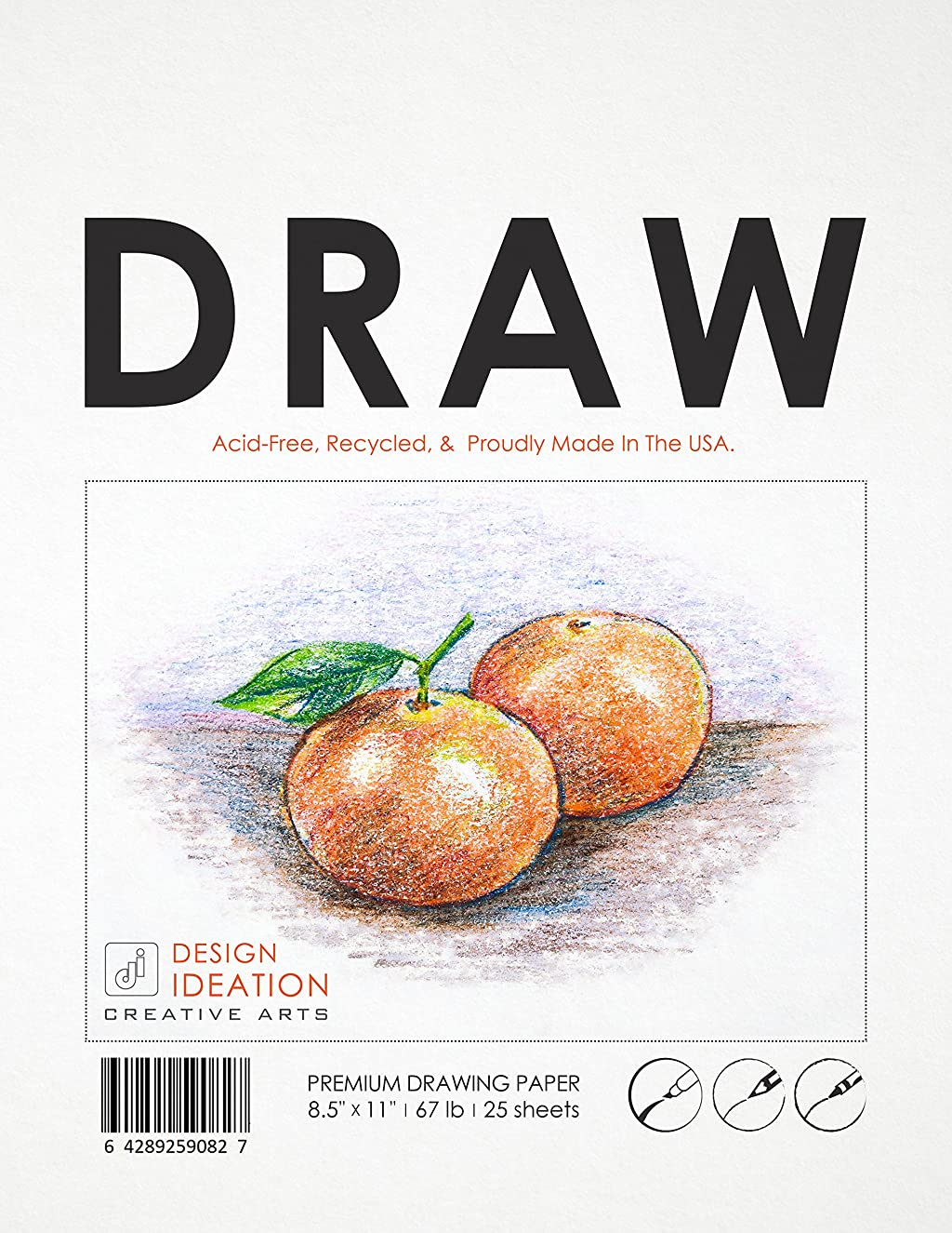 Premium Drawing Paper for Pencil, Ink, Marker and Charcoal. Great for Art, Design and Education. Loose Sheet Pack. (25 Sheet Pack)
