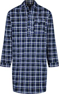 Champion Mens Brushed Cotton Canterbury Checked Nightshirt Sleepwear