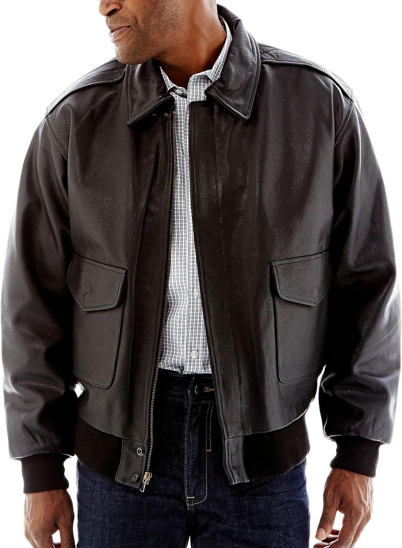 Excelled Men's Leather Flight Jacket