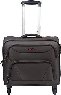 Murano Cannon 4 Wheel Polyester 28 ltr Brown Soft-Sided 15.6 inch Laptop Overnighter Bag/Luggage Bag