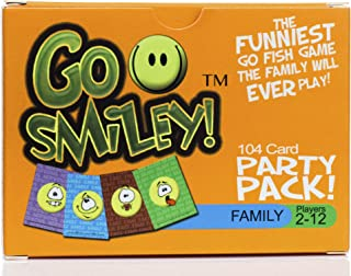 Go Smiley: Go Fish Card Game for Kids. Go Fish with Funny Faces! Party Pack Adults & Teens Will Join in Playing with The Toddlers. Classic Childrens Set for Preschool, Kindergarten, Family