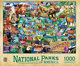 """MasterPieces 1000 Piece Jigsaw Puzzle for Adult, Family, Or Kids - National Parks 19.25"""" X 26.75"""" - Family Owned American ..."""