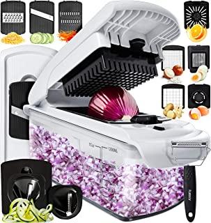 Fullstar Vegetable Chopper Dicer Mandoline Slicer - Food Chopper Vegetable Spiralizer Vegetable...