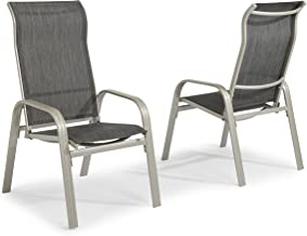 South Beach Gray Pair of Sling Arm Chairs by Home Styles