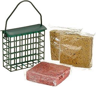 dobar 6proteinreiche Blocs de suif Graisse + 2Gratis Distributeur de Nourriture pour Oiseaux à Suspendre, ganzjähriges G...