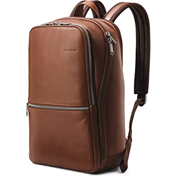 Samsonite Classic Leather Slim Backpack, Brown, One Size