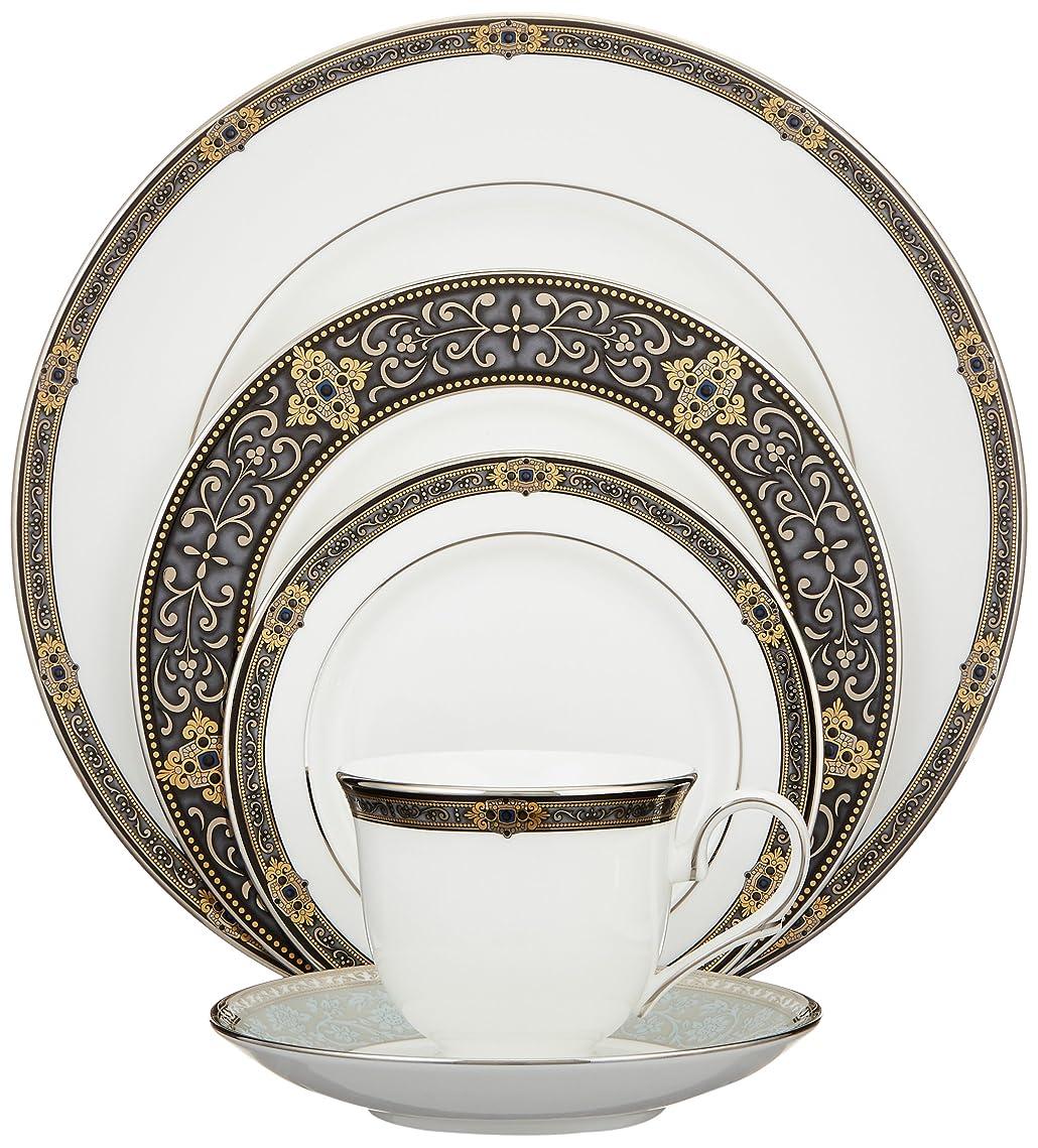 打たれたトラック失業者キルト(5-Piece Place Setting, Lenox Vintage Jewel Fine Dinnerware) - Lenox Vintage Jewel Platinum-Banded Bone China 5-Piece Place Setting, Service for 1