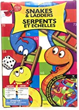Snakes and Ladders by Cardinal Kids Board Game for 2 or More Players Ages 6 to Adult