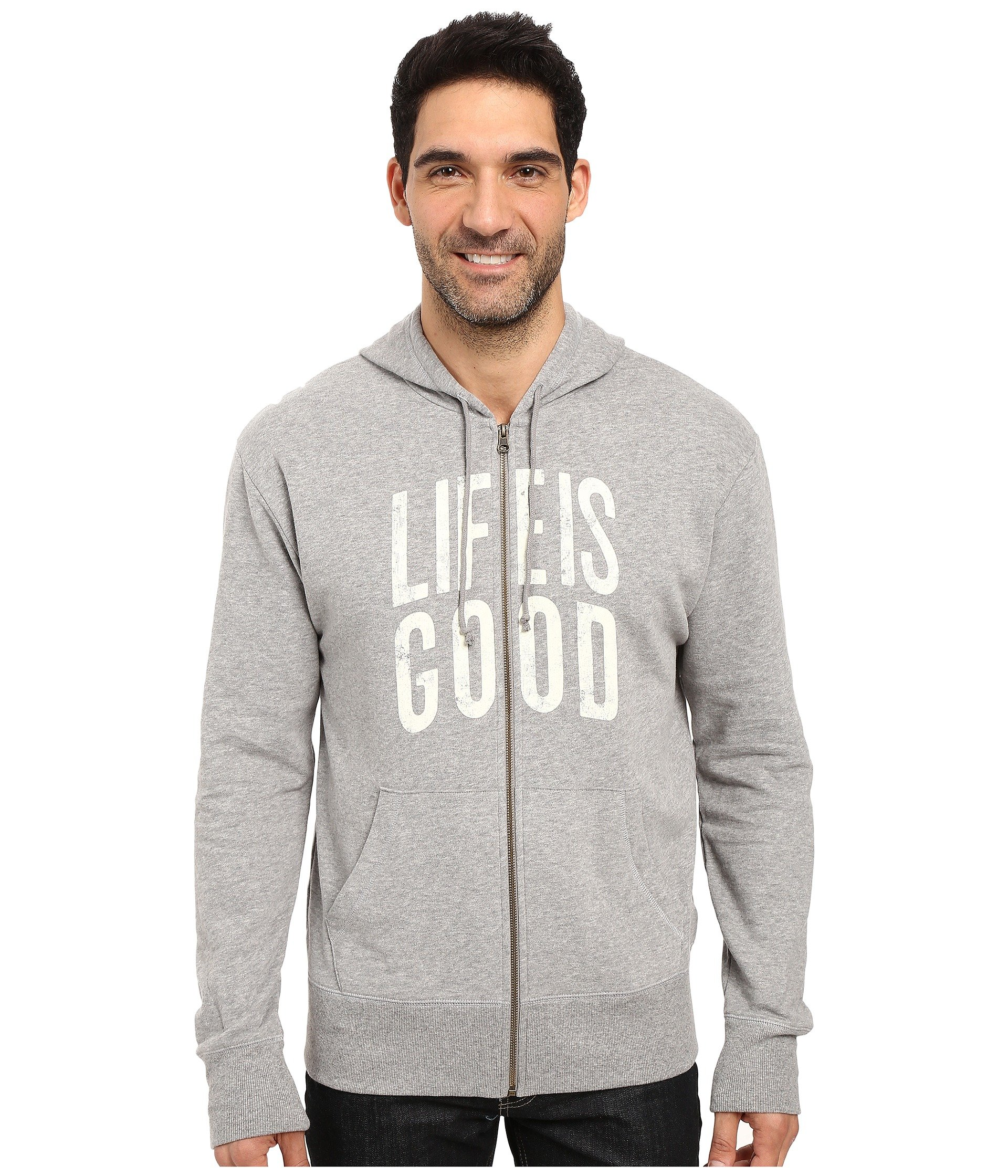 Buzo o Chaqueta Deportiva para Hombre Life is Good Life is Good® Go-To Zip Hoodie  + Life is Good en VeoyCompro.net