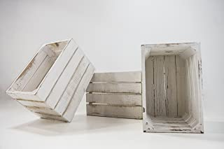DECORANDO CON SAM Set 3 Unidades Cajas de Madera Blancas