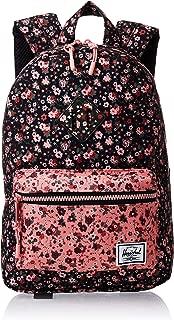 Herschel Kids' Heritage Backpack, Multi Ditsy Floral Black/Flamingo Pink, One Size