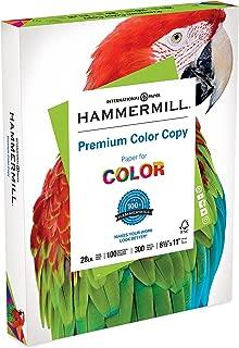 Hammermill Paper, Premium Color Copy Paper 8.5 x 11 Paper, Letter Size, 28lb Paper, 100 Bright, 1 Pack / 300 Sheets (102700R) Acid Free Paper, White
