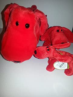 Ty Beanie Trio - Beanie Buddy, Baby and Teenie - Matched Set - Rover the Red Dog