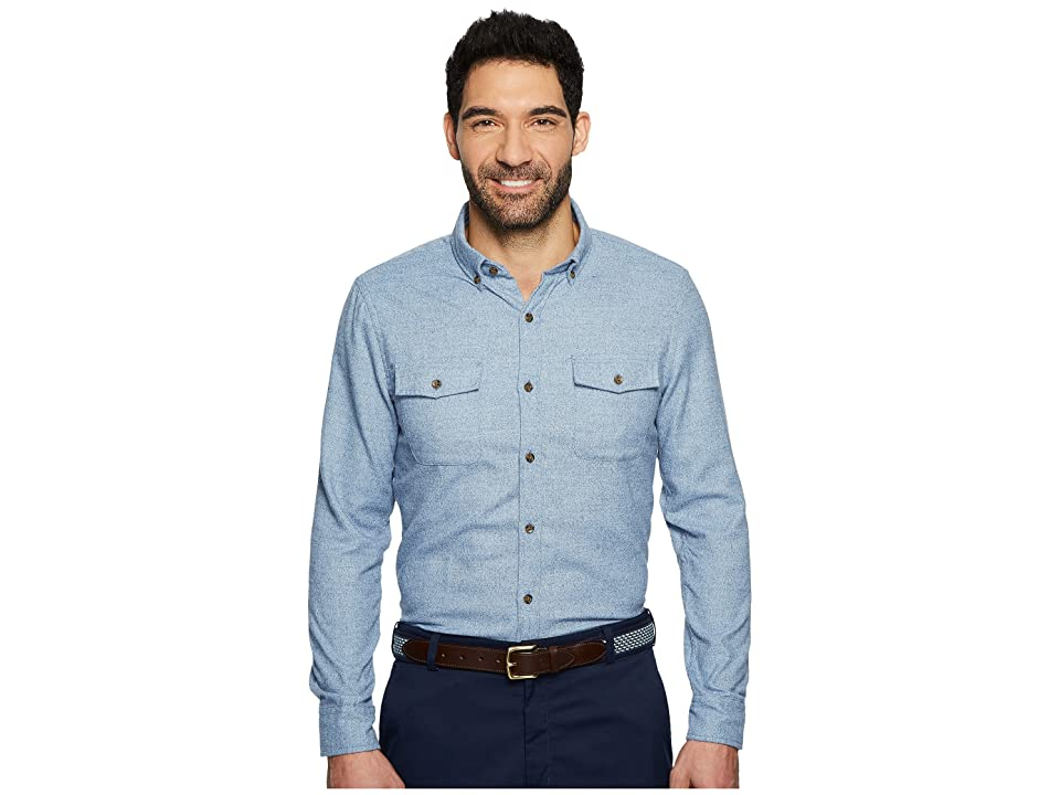 Vineyard Vines Slim Two-Pocket Crosby + Elbows Shirt (Slate Blue) Men