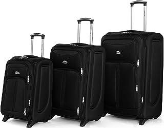 Senator Soft-Shell Luggage Set- Expandable Lightweight 3-Piece Luggage Sets with Wheels 2, (20/24/28 Inches Suitcase Set, ...