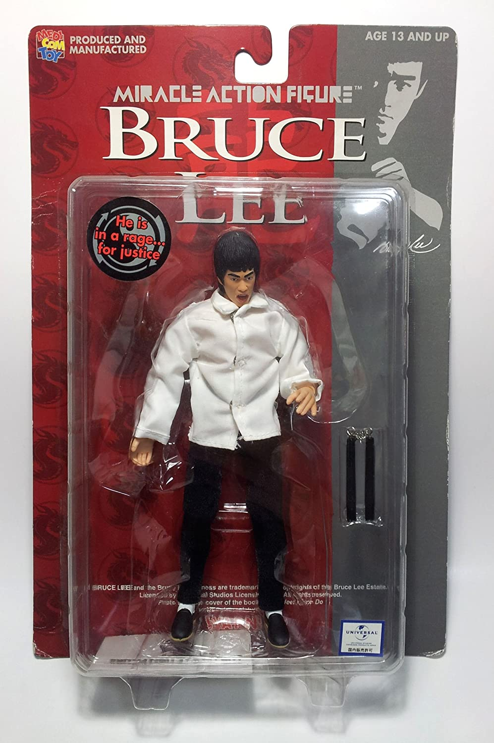 Bruce Lee Miracle Action Figure (white)