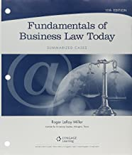 Bundle: Cengage Advantage Books: Fundamentals of Business Law Today: Summarized Cases, Loose-Leaf Version, 10th + MindTap Business Law, 1 term (6 months) Printed Access Card