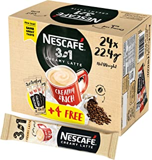NESCAFE 3in1 Instant Creamy Latte Sachet - 22.4 gm x 24