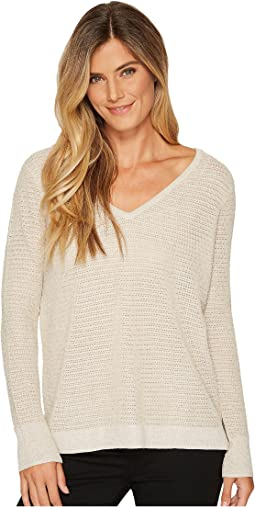 NYDJ - Metallic Double V-Neck Sweater