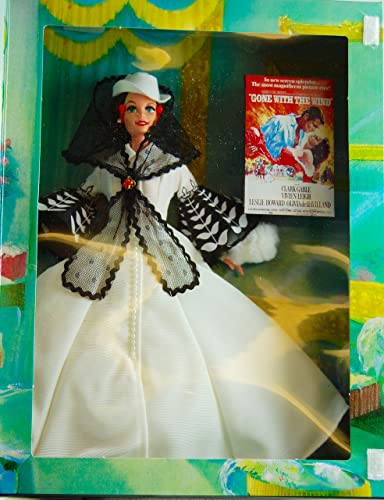 1994 - Mattel - Hollywood Legends Collection - Gone With The Wind - Barbie as Scarlett O'Hara - Classic Film Doll - schwarz & Weiß Dress