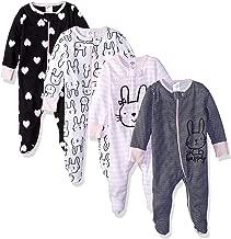 GERBER Baby Girls' 4-Pack Sleep N' Play