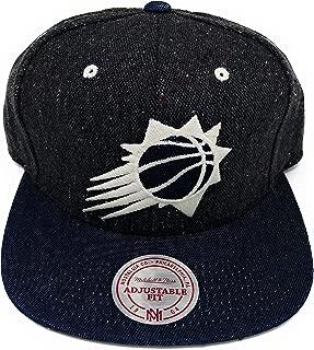 Mitchell and Ness Tweed Crown Denim Visor Strapback Hat