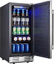 Kalamera 15 Inch Stainless Steel Beverage Cooler - Soda and Beer Refrigerator Chills Drinks at 32-41 Degrees - Drinks Fridge for Home and Commercial Use