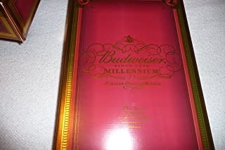 Budweiser Millenium Limited Edition Collectors Bottle with 4 Glasses Set