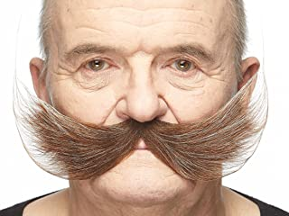 Mustaches Fake Mustache, Self Adhesive, Novelty, Fisherman's False Facial Hair, Costume Accessory for Adults