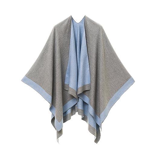 0926eafc82adc3 Cardigan Poncho Cape  Women Elegant Cardigan Shawl Wrap Sweater Coat for  Spring