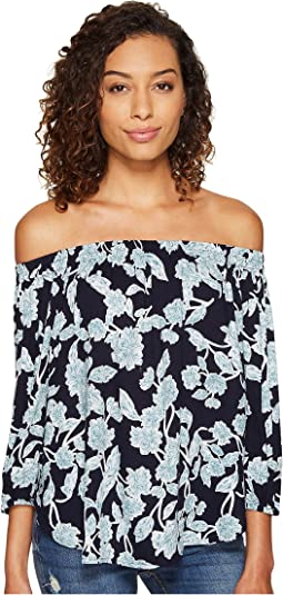 fc438f28f8bb38 Lilly pulitzer printed elsa top bright for the halibut, Navy at 6pm.com