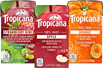 Tropicana 100% Juice Box, 3 Flavor Variety Pack, 4.23oz, 44 Count