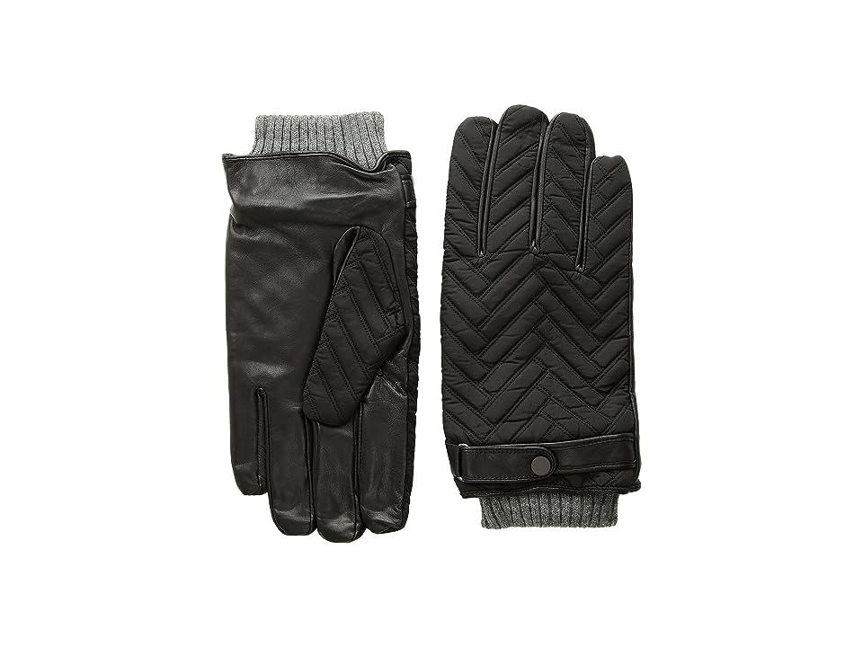 Ted Baker Afro Quilted Gloves (Black) Dress Gloves