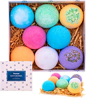 Vitanass 8 Handmade Bath Bombs Gift Set - Nature Essential Oil - Organic Shea & Coco Butter Dry Skin Moisturize - Spa Bomb Fizzies - Add to Bath Bubbles, Basket, Bath Beads - Bath Pearls