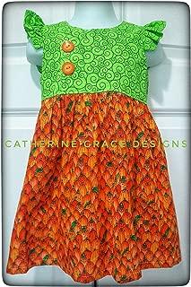 pumpkin dress for girl