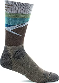 Sockwell Men's Modern Mountain Crew Moderate Compression Sock