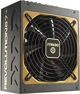 Enermax Revolution87+ 1000W 80 Plus Gold Certified Modular Power Supply with 13.9cm Twister-Bearing Fan and 100% 105°C Japanese Electrolytic Capacitors, ERV1000EWT-G