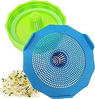 Masontops Bean Screen Plastic Mason Jar Sprouting Lids for Wide Mouth Mason Jars – Grow Bean Sprouts, Alfalfa, Salad Sprou...