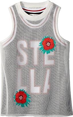 Stella McCartney Kids - Corey Sleeveless Sporty Dress w/ Mesh Overlay (Toddler/Little Kids/Big Kids)