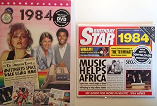 1984 Birthday Gifts Pack - 1984 DVD Film , 1984 Chart Hits CD and 1984 Greetings Card