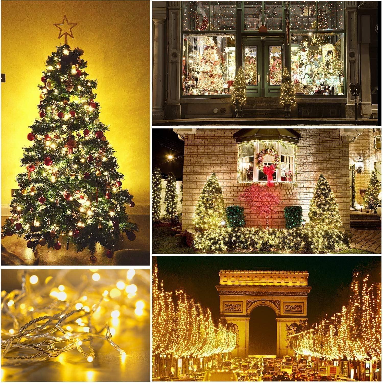 KELITE Schnur-feenhafte Lichter 800 LED 100M Lichterketten 328ft for Weihnachtsbaum-Partei-Hochzeit Veranstaltungen Garten (8 Beleuchtungsart, UK oder EU) - Top-Qualität (Color : Yellow-30m*300LEDs) Yellow-20m*200leds